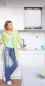 zentrale Küchenschrank-taugliches Kompakt-Lüftungssystem Zehnder ComfoAir 180