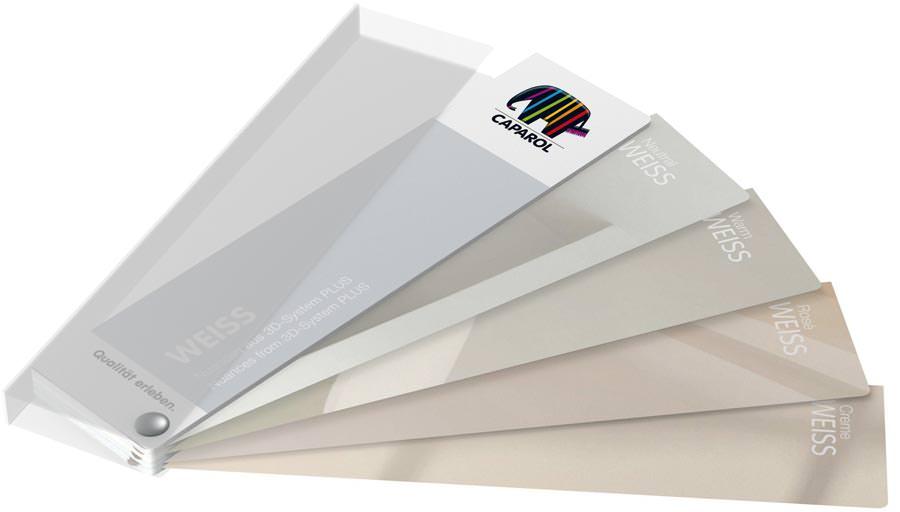Weißtöne Wandfarbe so farbig ist weiß neuer weiss fächer caparol präsentiert
