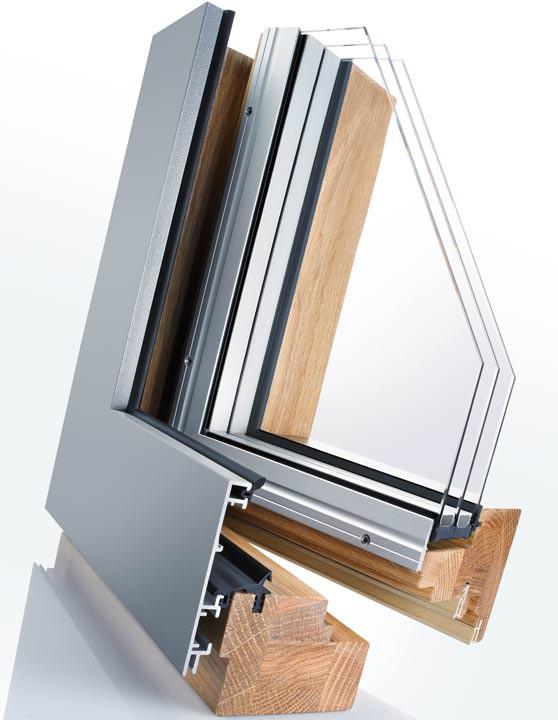 holz-alu-architektenfenster von gutmann mit bis zum glas verdeckt,