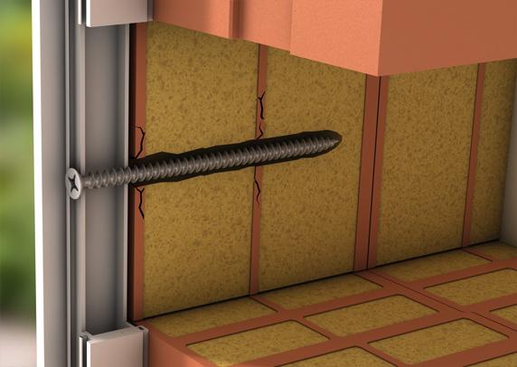 Befestigung mit extralangen Schrauben in einem 'normalen' Ziegelstein