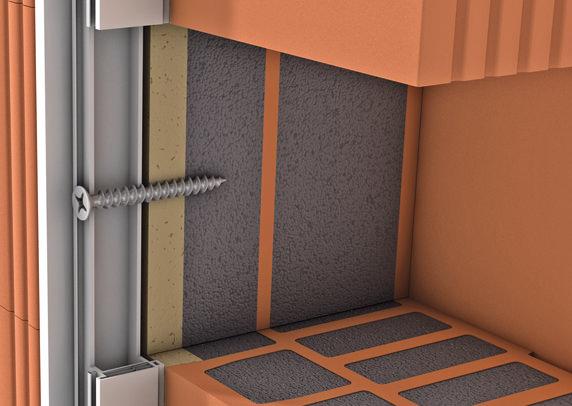 Fensterverschraubung im Beck+Heun-Laibungsziegel