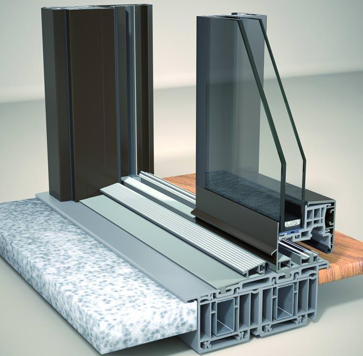 Schiebetür außen kunststoff  Easy-Slide: Neue Alu-Schiebetür von Finstral in schlankem Design