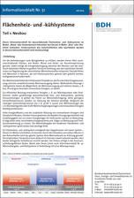BDH-Infoblatt Nr. 51: Flächenheiz- und -kühlsysteme, Teil 1: Neubau