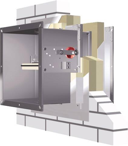ce zertifizierung f r den weichschotteinbau von trox brandschutzklappen einbau der fk eu in. Black Bedroom Furniture Sets. Home Design Ideas