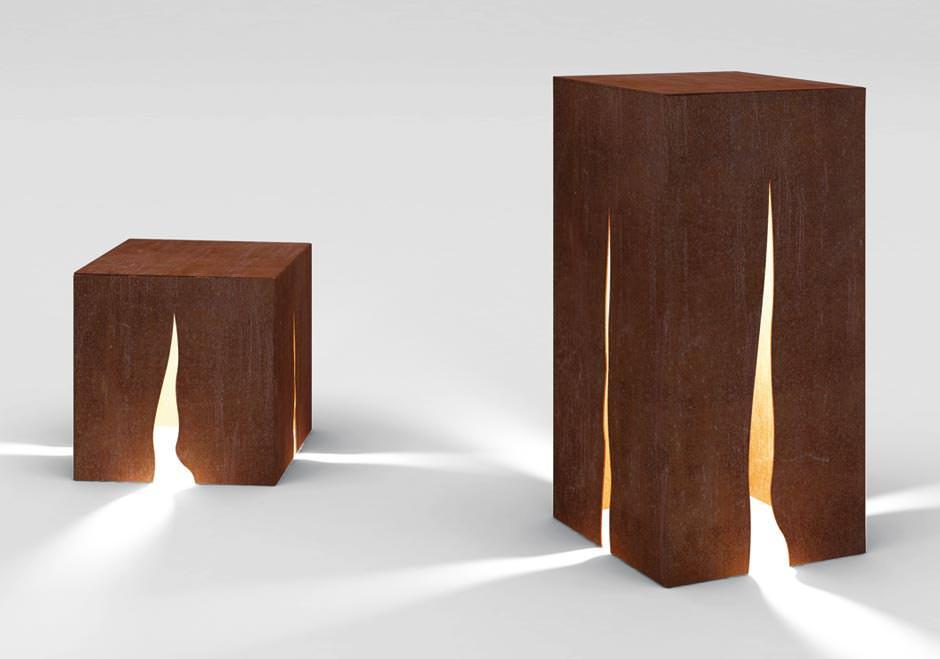 garten und parkleuchte granito aus cortenstahl von artemide. Black Bedroom Furniture Sets. Home Design Ideas