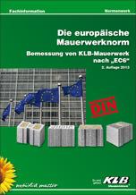 Broschüre zur Bemessung von KLB-Mauerwerk nach Eurocode 6