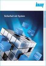 """Knauf Broschüre """"Sicherheit mit System"""""""