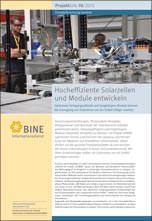 """BINE-Projektinfo """"Hocheffiziente Solarzellen und Module entwickeln"""" (10/2013)"""