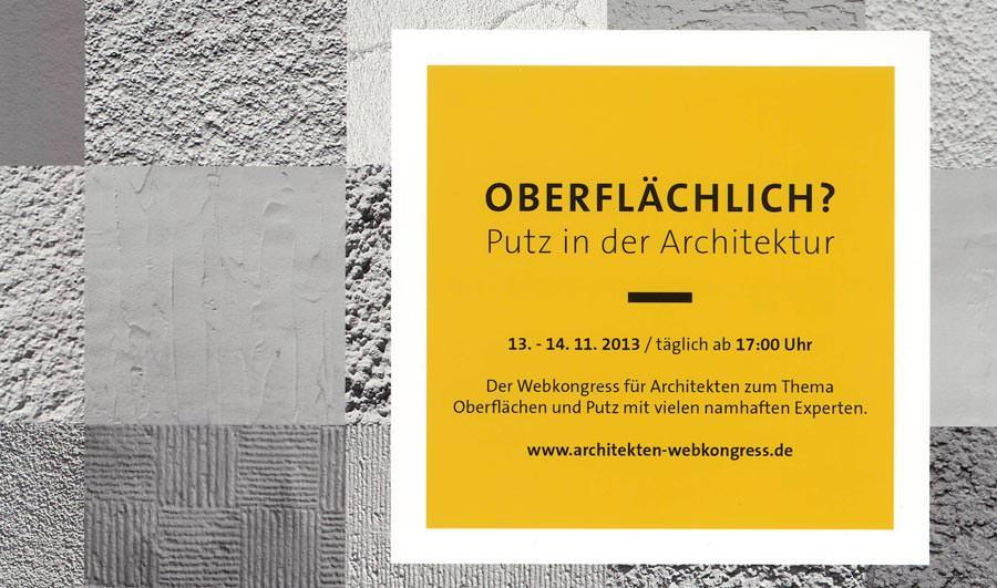 weber webkongress iii oberfl chlich putz in der. Black Bedroom Furniture Sets. Home Design Ideas