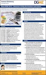 Seminar: Honorare mit der neuen HOAI 2013 richtig durchsetzen