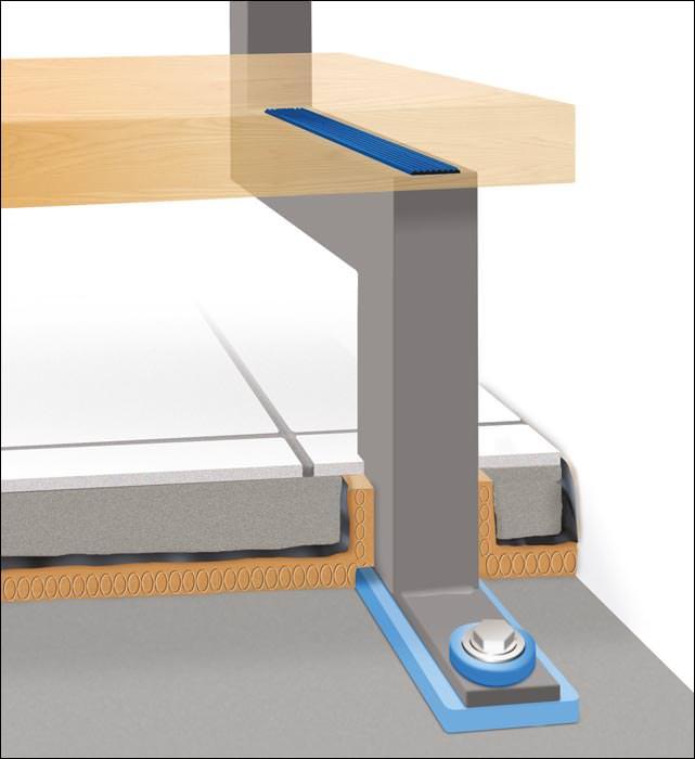 fuchs treppen reduziert mit sylomer wandankern und sockel elementen trittschall. Black Bedroom Furniture Sets. Home Design Ideas