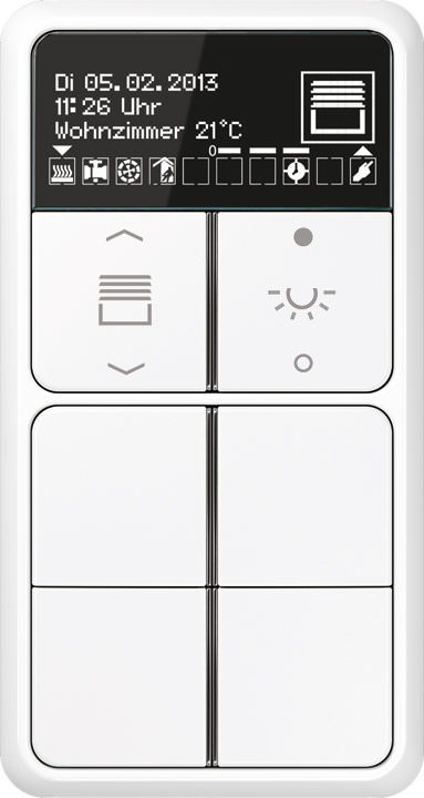 knx raumcontroller mit oled display und bemerkenswerter funktionsbreite. Black Bedroom Furniture Sets. Home Design Ideas