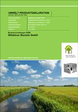 Umwelt-Produktdeklarationen für Brandschutzklappen FK90 von Wildeboer