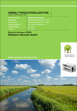 Umwelt-Produktdeklarationen für Brandschutzklappen FK90K von Wildeboer