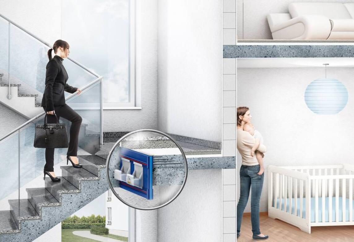 ... Geht Auf Die Speziellen Anforderungen Ein Und Ermöglicht So Einen  Optimalen Schallschutz Im Treppenhaus Von Mehrfamilienhäusern Oder  Reihenhäusern.