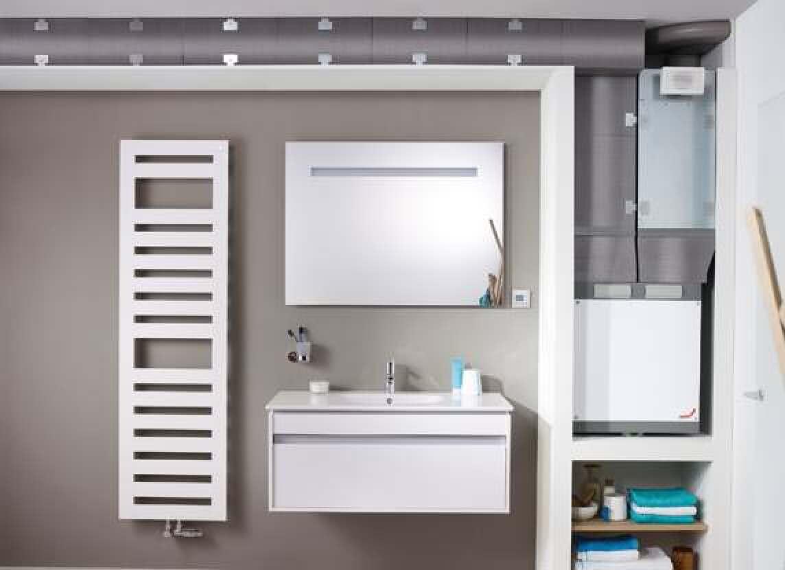 Küchenschrank-taugliches Kompakt-Lüftungssystem für bis zu 120 m² ...