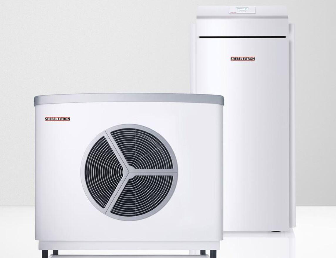 Luft-Wasser-Wärmepumpe von Stiebel-Eltron ausgelegt, um Öl- oder ...