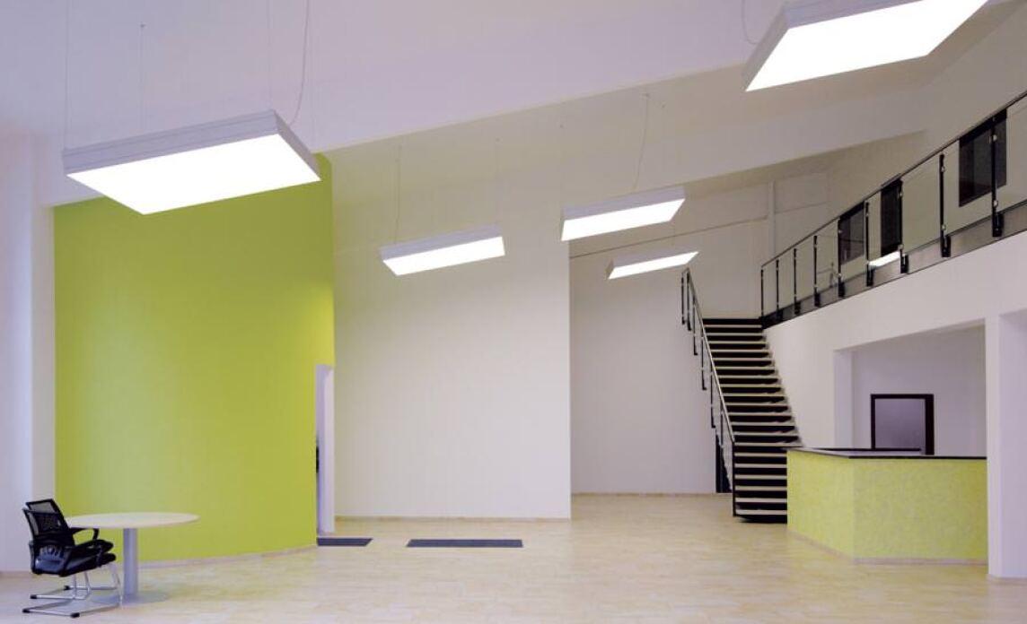 lichtwerk fl chenleuchte epic als einbau anbau und pendelleuchte. Black Bedroom Furniture Sets. Home Design Ideas