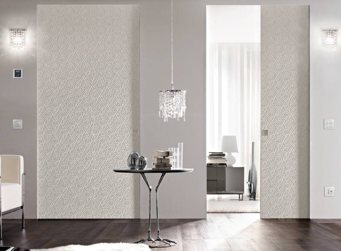 schiebet ren zargenlos und raumhoch mit syntesis von eclisse als einbauelement. Black Bedroom Furniture Sets. Home Design Ideas
