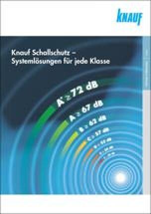 """Broschüre """"Knauf Schallschutz- Systemlösungen für jede Klasse"""""""