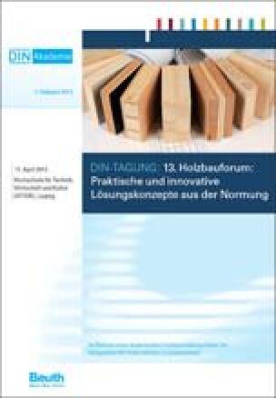 Programm: 13. Holzbauforum am 17.4.2013