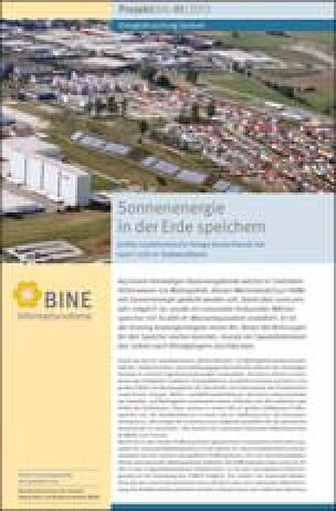 "BINE-Projektinfo ""Sonnenenergie in der Erde speichern"" (01/2013)"