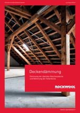"""Broschüre """"Deckendämmung"""" zum Dämmen von Kellerdecken und oberster Geschossdecke"""