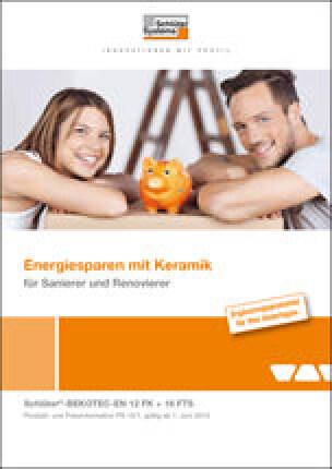 """Broschüre """"Energiesparen mit Keramik für Sanierer und Renovierer"""""""