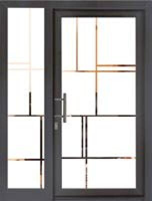 Glas-Haustür