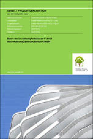 Umwelt-Produktdeklarationen (EPD) für Beton