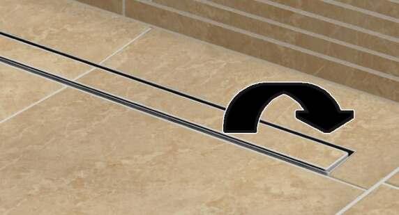 neue ablaufrinne bei besonders flachen tub line. Black Bedroom Furniture Sets. Home Design Ideas