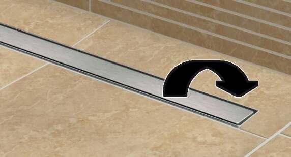 neue ablaufrinne bei besonders flachen tub line duschtassen von lux elements. Black Bedroom Furniture Sets. Home Design Ideas