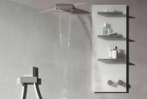 keuco armaturenpaneel im sinne eines duschm bels. Black Bedroom Furniture Sets. Home Design Ideas