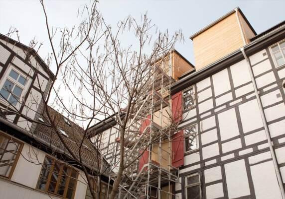 1.Preis: historischer Getreidespeicher am Domplatz von Halle (Saale)