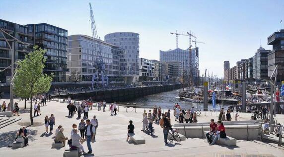 Magellan-Terrassen, HafenCity Hamburg (D), S. 212 © ELBE&FLUT, Quelle: HafenCity Hamburg GmbH