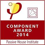 Logo: Component Award für Passivhaus-Fenster