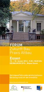 """BAKA-Forum """"Zukunft Bau-Praxis Altbau"""" auf der DEUBAUKOM 2014"""