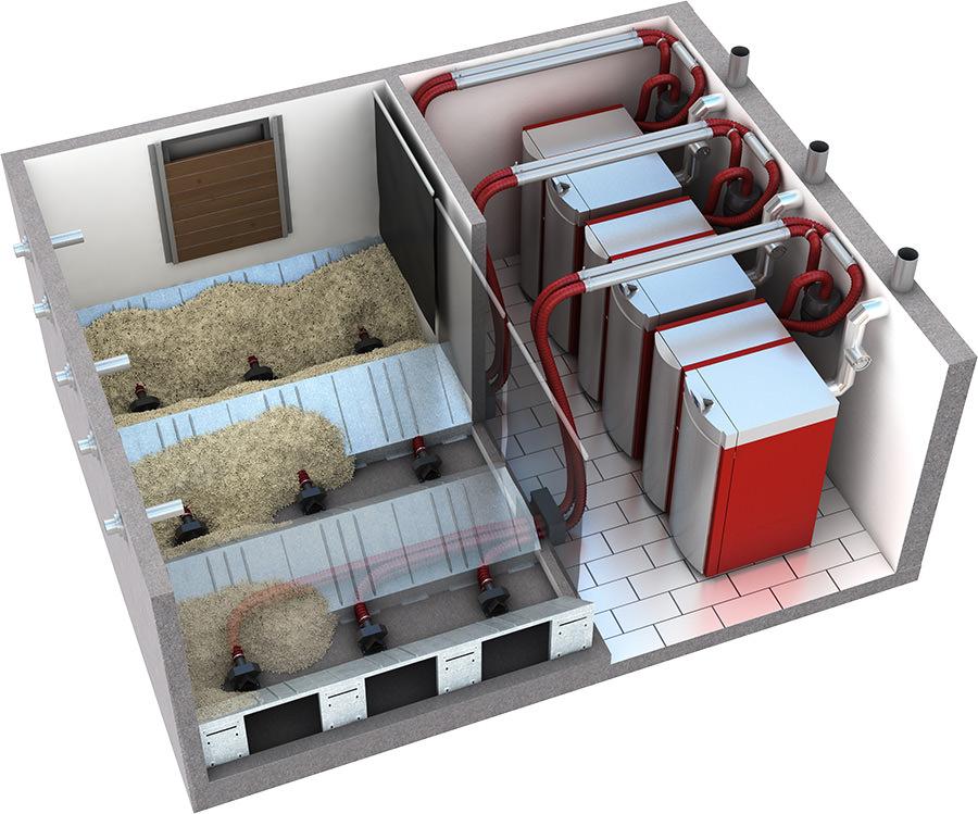 kaskadierbare pelletheizung mit gro er modulationsband breite. Black Bedroom Furniture Sets. Home Design Ideas