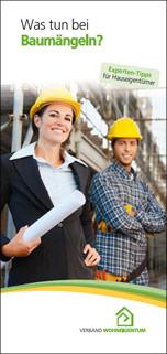 """Broschüre """"Was tun bei Baumängeln? Experten-Tipps für Hauseigentümer"""""""