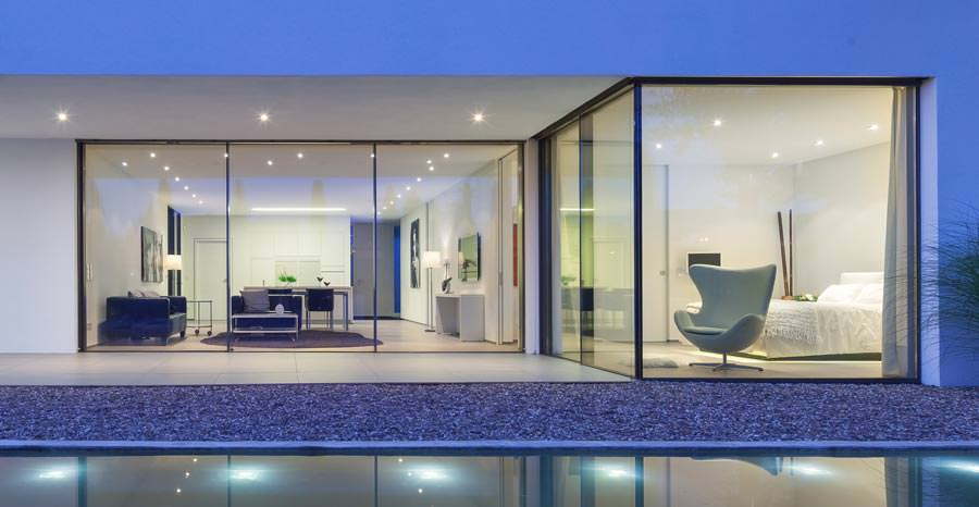 maximal reduziert cero das neue unsichtbare fenster von solarlux. Black Bedroom Furniture Sets. Home Design Ideas