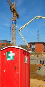 SOS BOX auf einer Baustelle