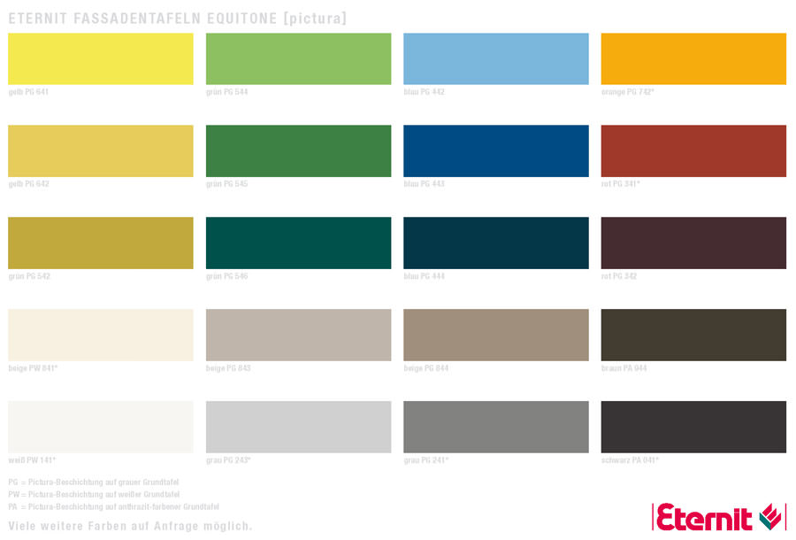 fr hlings farben f r gro formatige fassadentafeln von eternit. Black Bedroom Furniture Sets. Home Design Ideas