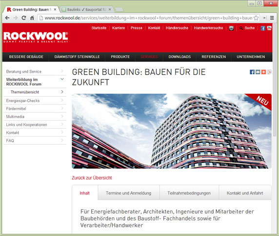 "Rockwool-Seminar ""Green Building"""