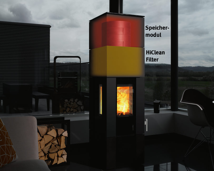 wodtke kaminofen new look mit hiclean filter und. Black Bedroom Furniture Sets. Home Design Ideas
