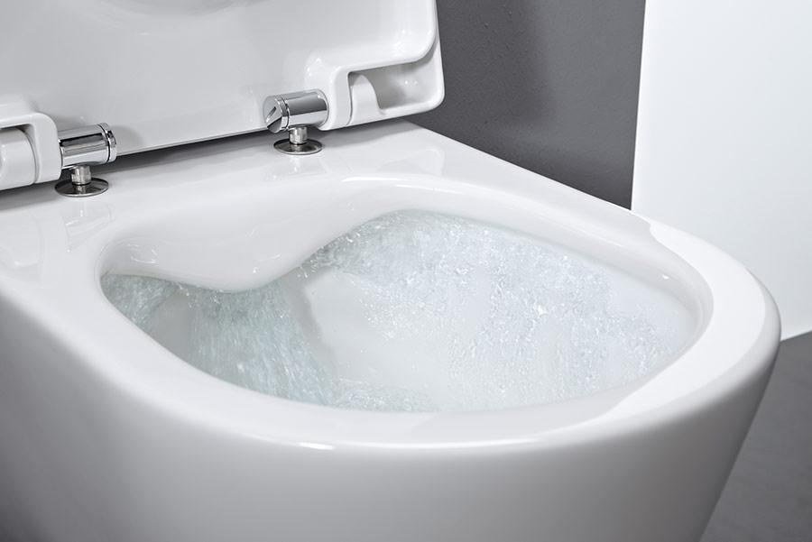 Kompakt-wc, Barrierefrei-wc Und Kubisches Wc Mit Randloser ... Kompakte Designer Toiletten