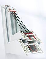 """Kunststofffenster-Profilsystem """"Synego"""" von Rehau"""