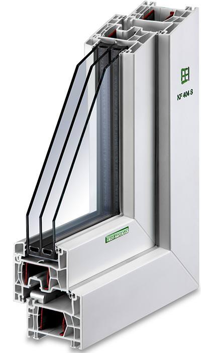 Kneer Süd Fenster schlankes 76er kunststoff-fenster von kneer-südfenster ermöglicht