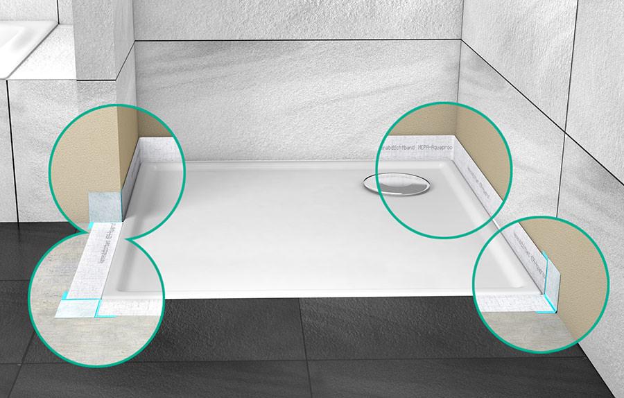 tadelakt dusche boden abdichtung von dusch und badewannen zwischen - Tadelakt Dusche Boden