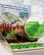 Natureline, ein Dachbegrünungssystem mit Elementen aus Biokunststoff