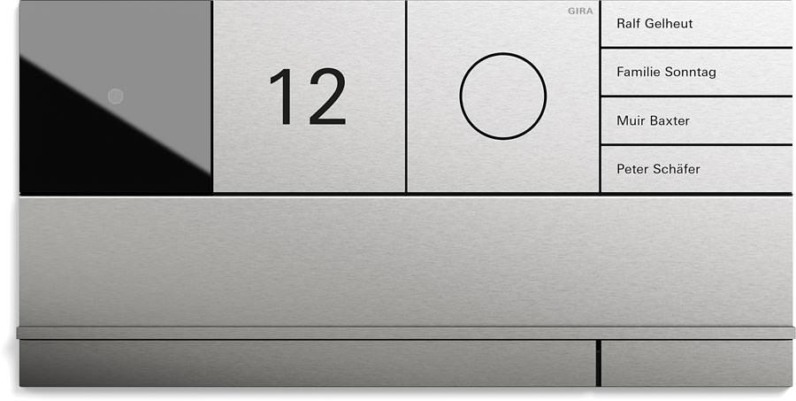 gira system 106 neue design und funktionsvielfalt an der haust r. Black Bedroom Furniture Sets. Home Design Ideas